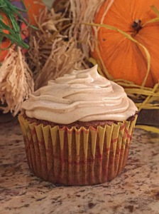 Pumpkins Spice Maple Cupcake